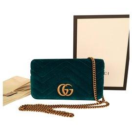 Gucci-Mini sac GG Marmont-Vert olive