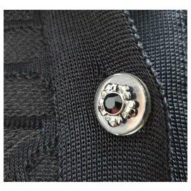 Chanel-CHANEL Black Viscose Top Size 36-Black