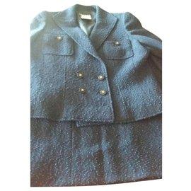 Chanel-Jupe-Bleu Marine
