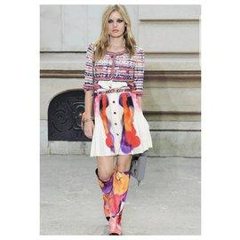 Chanel-CHANEL Multicolour Tweed  2015 Jacket Sz.36-Multiple colors