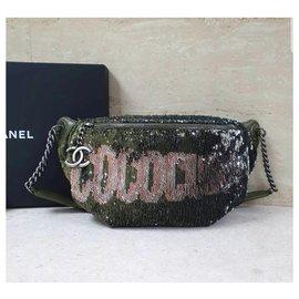 Chanel-CHANEL Coco Cuba Waist  Bag-Green