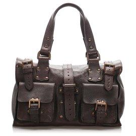 Mulberry-Mulberry Brown Roxanne Leather Handbag-Brown,Dark brown