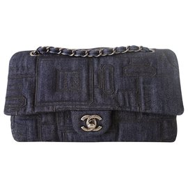 Chanel-CHANEL CLASSIC JEAN BAG-Dark blue