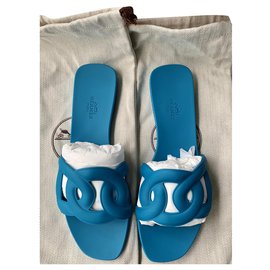 Hermès-Aloha Bleu Vif Size 38-Blue