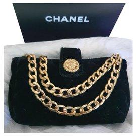 Chanel-Chanel clutch / mini bag-Black,Golden