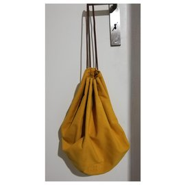Hermès-Backpacks-Yellow