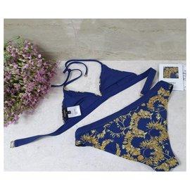 Chanel-NWT CHANEL Bikinis Swimsuit Sz.36-Blue