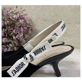 Dior-NWOB $1190 Escarpins Dior J'adior en velours noir à bride arrière Taille 36-Noir