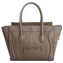 Céline-Handbags-Taupe