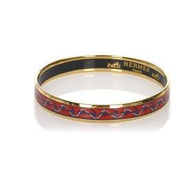 Hermès-Bracelet jonc Hermes multi émail-Multicolore