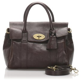 Mulberry-Mulberry Brown Bayswater Leather Satchel-Brown,Dark brown