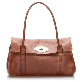Mulberry-Mulberry Brown Bayswater Leather Shoulder Bag-Brown