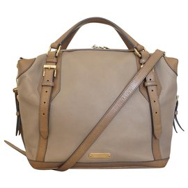 Burberry-Handbags-Beige,Cognac