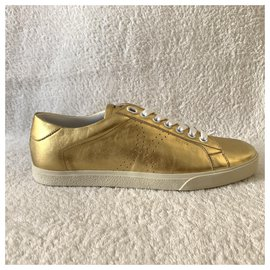 Céline-Baskets Triomphe en cuir doré-Doré