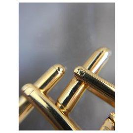 Montblanc-Elegant Montblanc cufflinks NEW condition-Golden