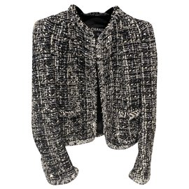 Chanel-Jackets-Black,Silvery,White