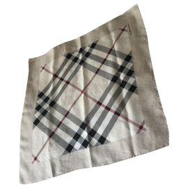 Burberry-Silk scarves-Beige