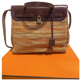 Hermès-Herbag-Marron,Multicolore