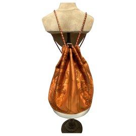 Hermès-Backpacks-White,Orange,Coral