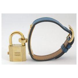 Hermès-Kelly-Bleu,Doré