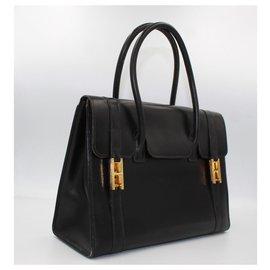 Hermès-Hermès Handbag Drag Black Box Leather-Black