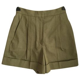 Chanel-Shorts-Khaki