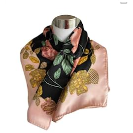 Lanvin-Silk scarves-Black,Pink