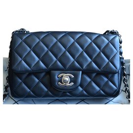 Chanel-Chanel Timeless Classic mini bag-Black,Silvery