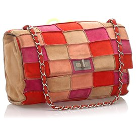 Chanel-Chanel Pink Reissue Patchwork Flap Bag-Pink,Multiple colors