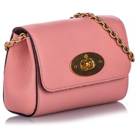 Mulberry-Mulberry Pink Mini Lily Leather Crossbody Bag-Pink