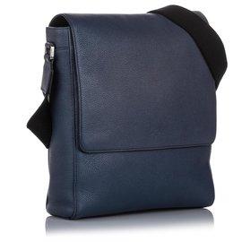 Mulberry-Mulberry Blue Slim Maxwell Leather Crossbody Bag-Blue,Dark blue