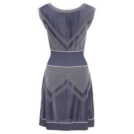 Chanel-jolie robe rayée-Multicolore