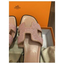 Hermès-Sandales Hermès Oran-Rose