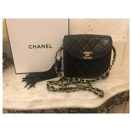 Chanel-Timeless  carré bb size-Noir