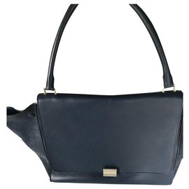 Céline-Celine GM Trapeze Bag-Blue