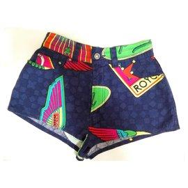 Versace-Vintage Multicolored Mini Shorts-Multiple colors