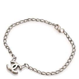 Chanel-Chanel Silver CC Chain Bracelet-Silvery