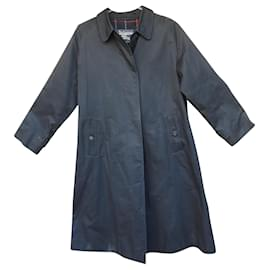 Burberry-Burberry woman raincoat vintage t 40-Navy blue