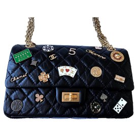 Chanel-Reissue 2.55 Casino Charm bag-Black