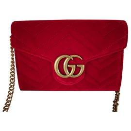 Gucci-Mini sac Gucci Marmont GG-Rouge