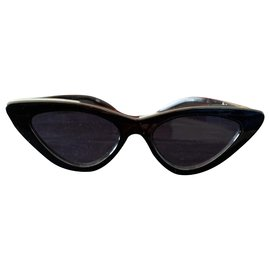 Autre Marque-Pair of new Adam selman x le specs black cat eye glasses-Black