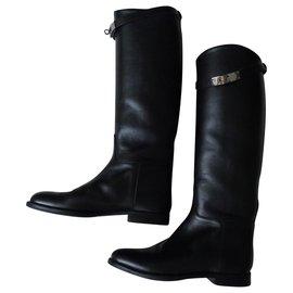 Hermès-Boots-Black