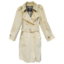 Burberry-trench femme Burberry London t 40 avec doublure laine amovible-Beige