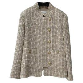 Chanel-CHANEL Veste en tweed multicolore Sz.40-Multicolore
