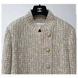 Chanel-CHANEL Multicolour Tweed Jacket Sz.40-Multiple colors