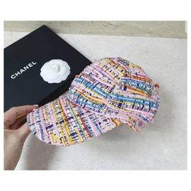 Chanel-CHANEL lesage tweed baseball cap-Multiple colors