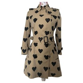 Burberry-Kensington heart trench coat-Beige