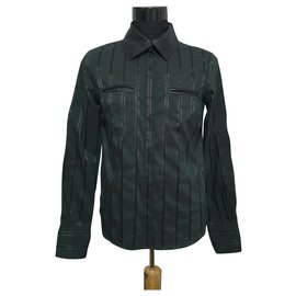 Versace-Shirts-Black,Dark green