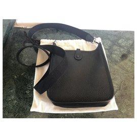 Hermès-Evelyne mini-Black,Silvery