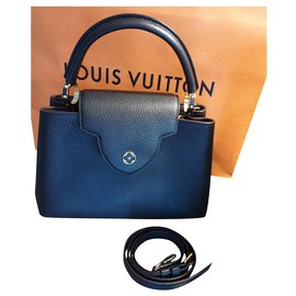 Louis Vuitton-Louis Vuitton handbag Capucines PM, FULLSET!-Black